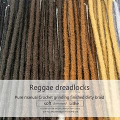 Reggae Dirty Braid Pure Handmade  Jamaica Hip-hop Hair Ornament Dirty Braid 25 cm One boxes 20 root black 25CM