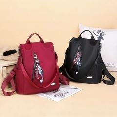 Women's Oxford cloth backpack wild fashion bag black 32*13*32