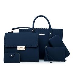 2019 new five-piece women's bag shoulder-slung fashion bag blue 30*15*25