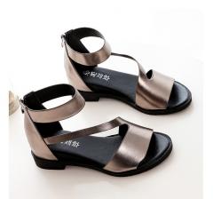 Spring/summer 2016 beef tendon bottom flat non-slip lady sandals gray 6