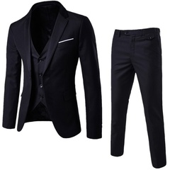 Plus Size S-6XL Mens Fashion Suits  Groom Wedding Suits for Men Slim Formal Male Suit Business Suits black m