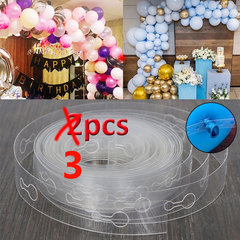 3Pcs 5M DIY Balloon Decorating Strip Connect Chain Balloon Arch Strip Tape for Event  Party Wedding as picture 3pcs*5m balloon connect chain H 410(410 holes)
