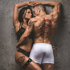 Hot 10pcs Arm sleeve Tattoo Waterproof temporary tattoo Sticker Men/women art Flower Tattoo Body as picture