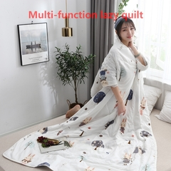 Hot Lazy Quilt with Sleeves Multi-function Home Bedding Comforter cushion shoulder protector duvet picture 6 3.94*4.92 ft  1.2*1.5m