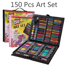 Watercolor pen set 150pcs children art painting set student stationery kindergarten early education Black one size