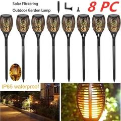 Waterproof Solar Garden Light Flickering LED Landscape Light Lawn Lamp Path Lighting Solar Outdoor 4 Pcs 72LED 1w