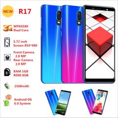 5.5-inch r17 smart phone multi-language unicom 3G The gradient blue