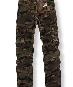 Fashionable multi - pocket cotton camouflage trousers casual overallsMen and women yellow camouflage 29