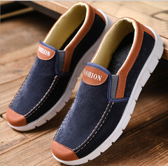 Spring 2019 men's cloth shoes youth trend British casual shoes Deep blue 41