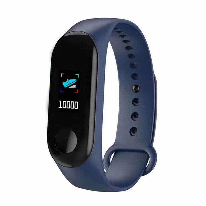 Bluetooth M3S Smart Bracelet Heart Rate Monitor Fitness Pedometer USB Rechargeable Watch Wristband Blue normal
