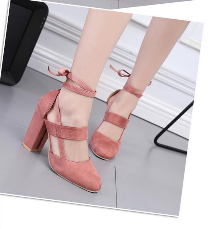 Women Pumps 2019 Women Heel Sandals Women Lace Up Transparent Shoes Summer Ankle Strap High Heels Yellow 43 3