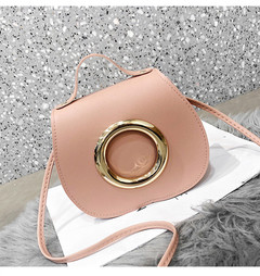 Fashion Women Lnclined Span Handbag simple PU Leather Crossbody Shoulder Tote Ladies Party Bag Cheap Pink 18*6*15CM