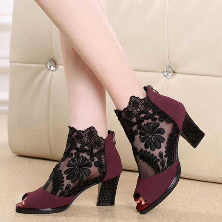 Women Pumps 2019 Women Heel Sandals Women Lace Up Transparent Shoes Summer Ankle Strap High Heels Yellow 43 6