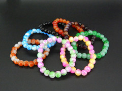 Best Selling 8mm Imitation Agate Glass Bracelet Women's Promotional Small Gifts Random delivery 8mm/a bead