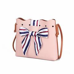 New Women Cute Bags Leather Shoulder Sling Bags Drawstring Handbags Small Crossbody shouler Bags Pink 23*20*6CM