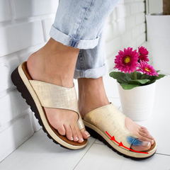 Platform Sandals Women Summer Shoes Fashion Wedge Slippers Beach Flip Flops Solid Slides Lady Gold 34