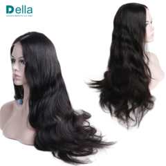 Synthetic Wigs Lace Front Hair Wigs Long Big Wave Youthful Vibrant Enchanting Stytle Black 24Inch