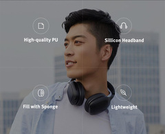 xiaomi MI bluetooth Headphone Earphones sport  Wireless Noise Cancelling friend gift PU headset black