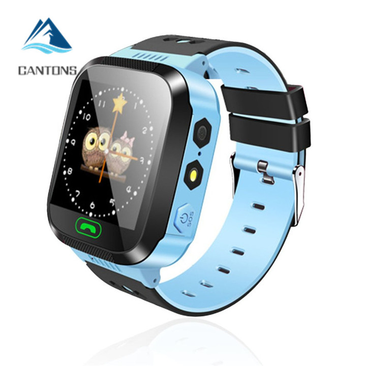 CANTONS Multifunction Children Digital Wristwatch Alarm Baby Watch With Remote Monitoring For Kids Blue One Size