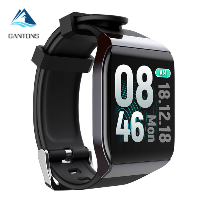 CANTONS Full Curved Screen Touch Screen Smartwatch with Heart Rate Monitor IP68 Fitness Smartwatches Black One Size