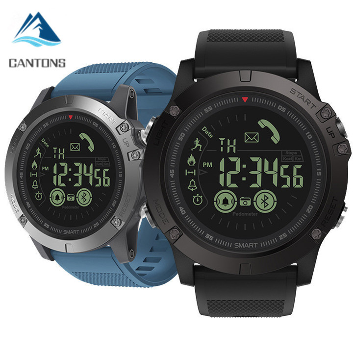CANTONS Rugged Smartwatch 33-month Standby Time 24h All-Weather Monitoring For IOS And Android Black One Size