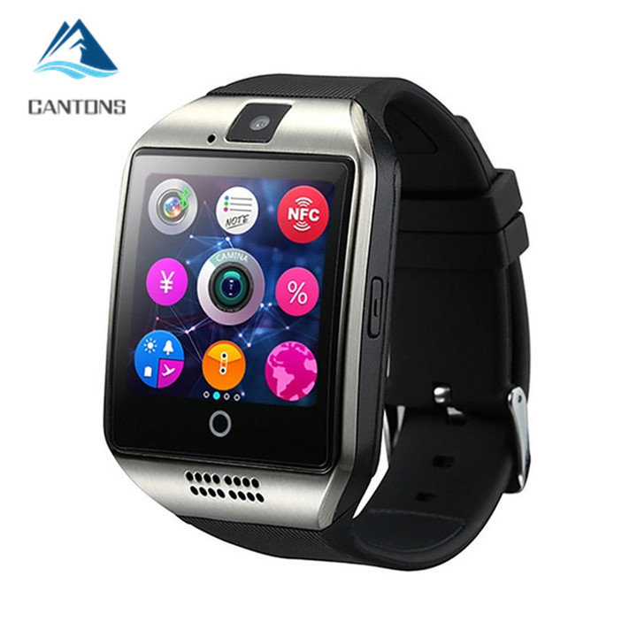 CANTONS With Camera Bluetooth Smartwatch SIM TF Card Slot Fitness Activity Tracker Watch For Android Slive One Size