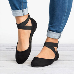 Shoes womens shoes flat shoes shallow mouth lace round head occident fashion shoes lady black 35