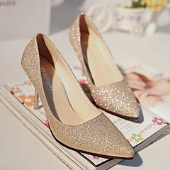 shoe shoes women shoes heels shoes ladies shoe women Sequined Tip Wedding Shoes Crystal Shoes 34-39 gold 34