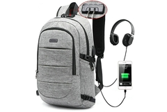 bag bags bag pack bagpack bags men bag for men bgas for men Backpack Computer Charging Backpack gray 17 inches