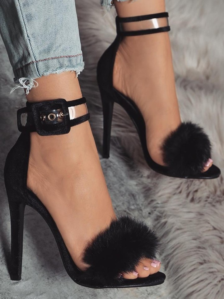 shoes women shoes heels shoes ladies shoes Superfine high heels Large size 35-43 About5-7cm black 39