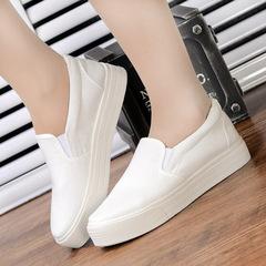 Shoes women's Shoes canvas shoe flat Shoes Women's Shoes A pedal Small White shoes lady shoes black 35