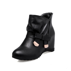 Shoes shoes women shoes for ladies Women Shoes Round Toe Wedge High Heel Ankle Boots35-39 black 35