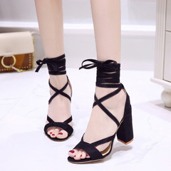 Women's shoes heels shoes ladies shoes High-heeled shoes  system area Large size lady shoes 34-43 black 34