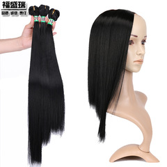 Long Striaght Synthetic Wig Silky Lace Front Wig Fluffy Smooth Tied Wig Heat Resistant Fiber Hair black 8