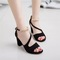 women shoes fashion women shoes heels fish mouth large size women shoes wear resistant black black 39