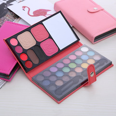 33 color Eye shadow combination Blush Powder eye shadow Lipstick Cover box pink