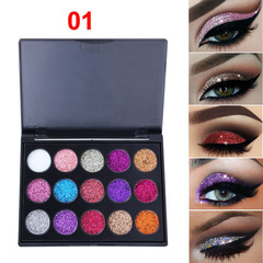 CmaaDu 15 color Diamonds Sequins Eye shadow disc Twinkle Highlight eye shadow 1