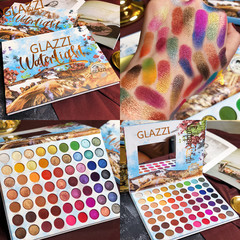 63 colour Europe and America Eyeshadow disc Over fire waterproof No makeup Eyeshadow disc 1