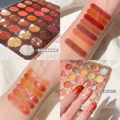 35 colour Mashed Potato texture Eye shadow disc Earth color Pearl light waterproof Eye shadow disc 1