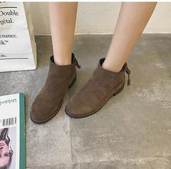 Women's Shoes Women Ankle Boots Short Restoring ancient ways Martin Boots/ Heels Boots black 36 black 35