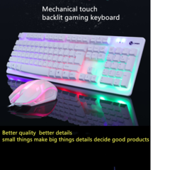 Mouse and keyboard set new USB keyboard  colorful backlight