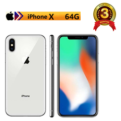 Refurbished mobile phone iphoneX : iphone X  +64GB+3GB + 12MP+7MP+ 5.8 inch with Fingerprint unlock silvery(standard edition)