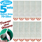 Vileed 5 Sets Removable Damage Free Hanging Strip Adhesive Wall Stick Tape Replace for 3M Command White 70 x 20mm