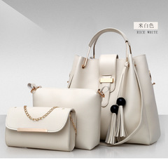 women's bag pure colhionable beads of or fasEuropean and American style handbags and shoulder bags white 33*31*14