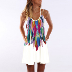 Best selling explosions European and American women's dress s white