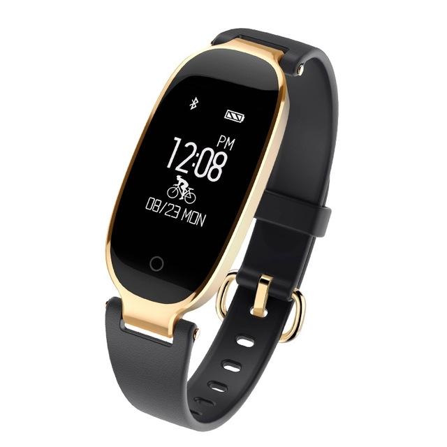 Bluetooth Waterproof S3 Smart Watch Fashion Women Ladies Heart Rate Monitor Smartwatch yellow S3 K-gold + black a 11