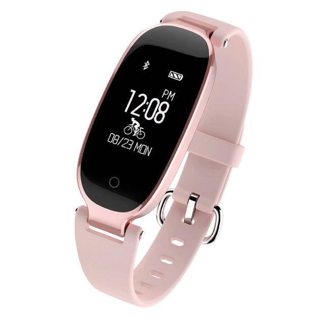 Bluetooth Waterproof S3 Smart Watch Fashion Women Ladies Heart Rate Monitor Smartwatch yellow S3 K-gold + black a 10