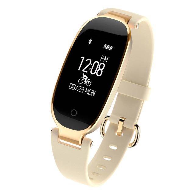 Bluetooth Waterproof S3 Smart Watch Fashion Women Ladies Heart Rate Monitor Smartwatch yellow S3 K-gold + black a 9