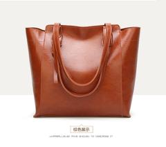 Europe and the United States one shoulder commuter handbags shoulder large handbag women brown a