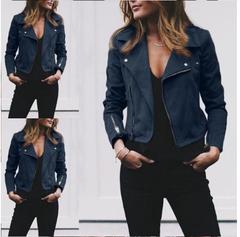 Spring Autumn Women Ladies Long Zipper Coats Casual Fashion Jackets blue s
